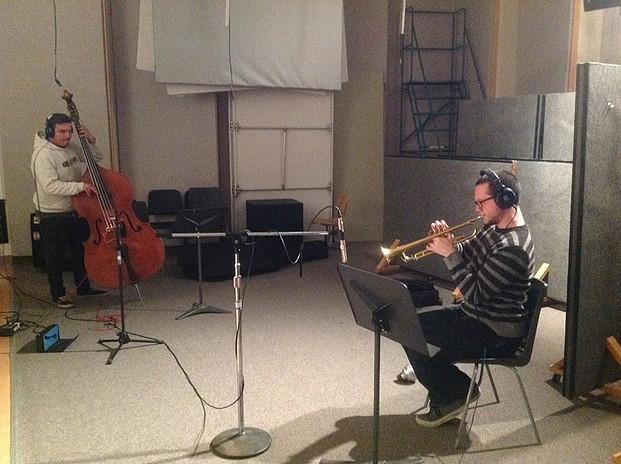 Contrabass : Juan Pablo Carmona, Trumpet : Remi Cormier // Photo : Etienne Lessard