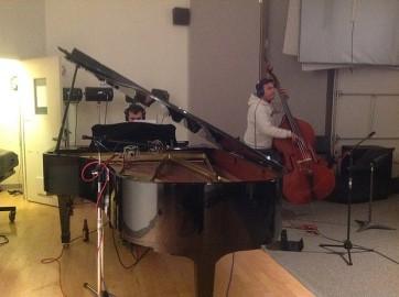 Piano : Pierre Martinez, Contrabass : Juan Pablo Carmona // Photo : Etienne Lessard